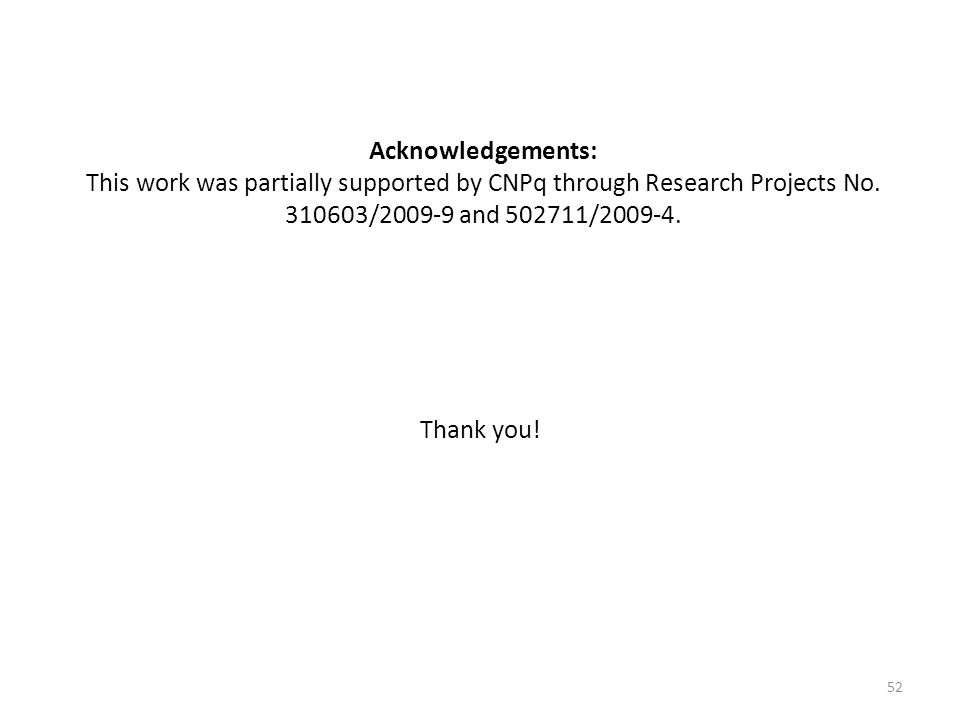 Acknowledgements: This work was partially supported by CNPq through Research Projects No / and /