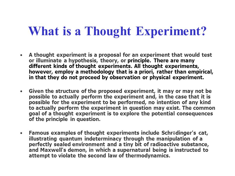 What is a Thought Experiment