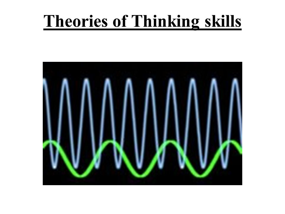 Theories of Thinking skills