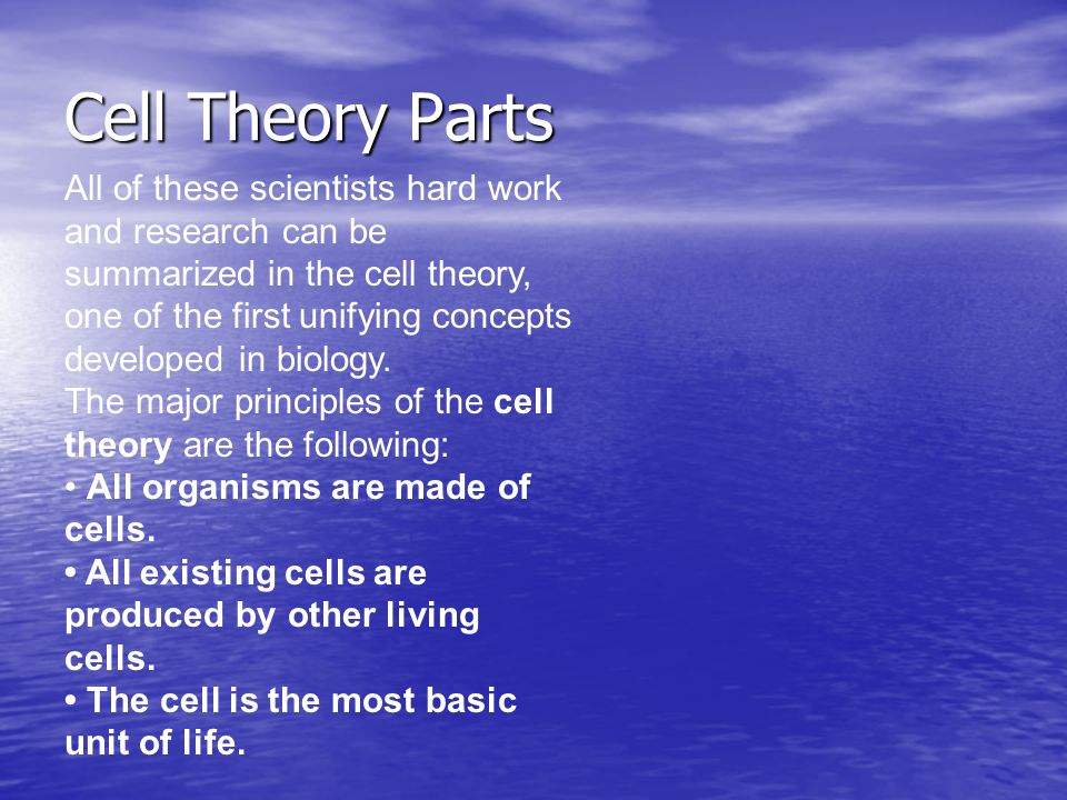 Cells, Cells Baby! Cell Theory: Section ppt video online download