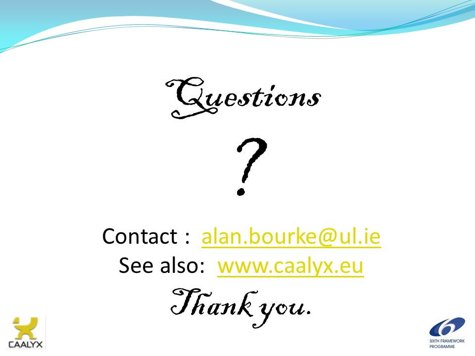 Contact : alan.bourke@ul.ie