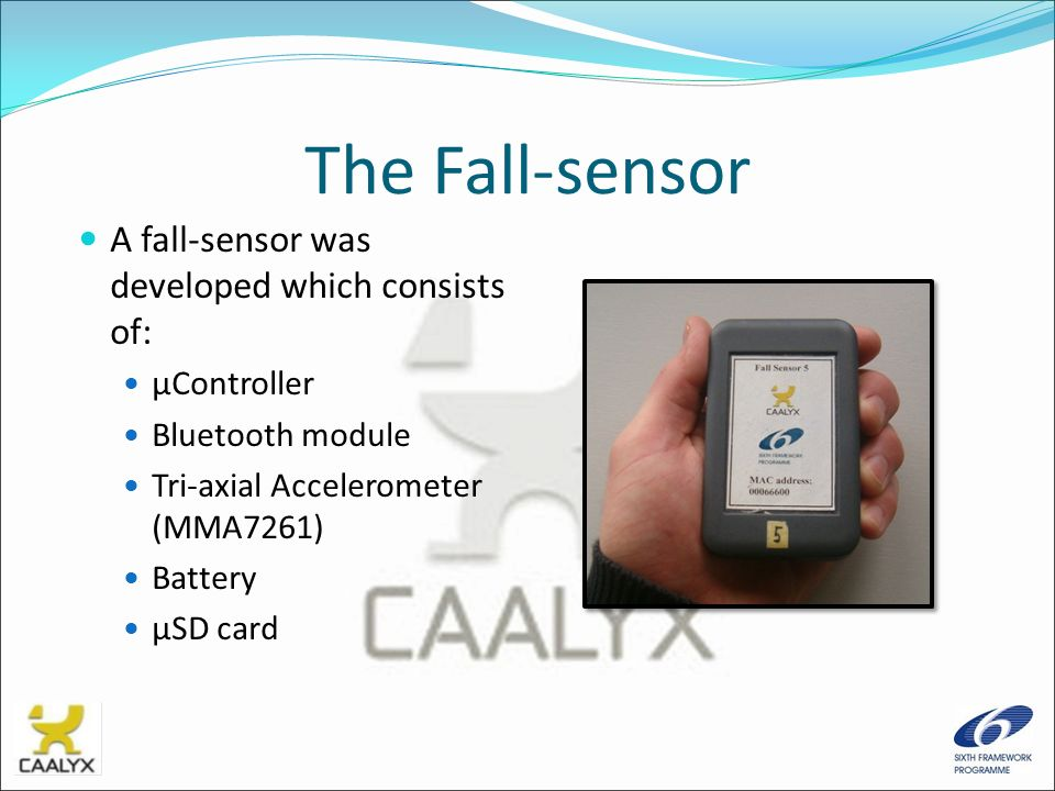 The Fall-sensor A fall-sensor was developed which consists of: