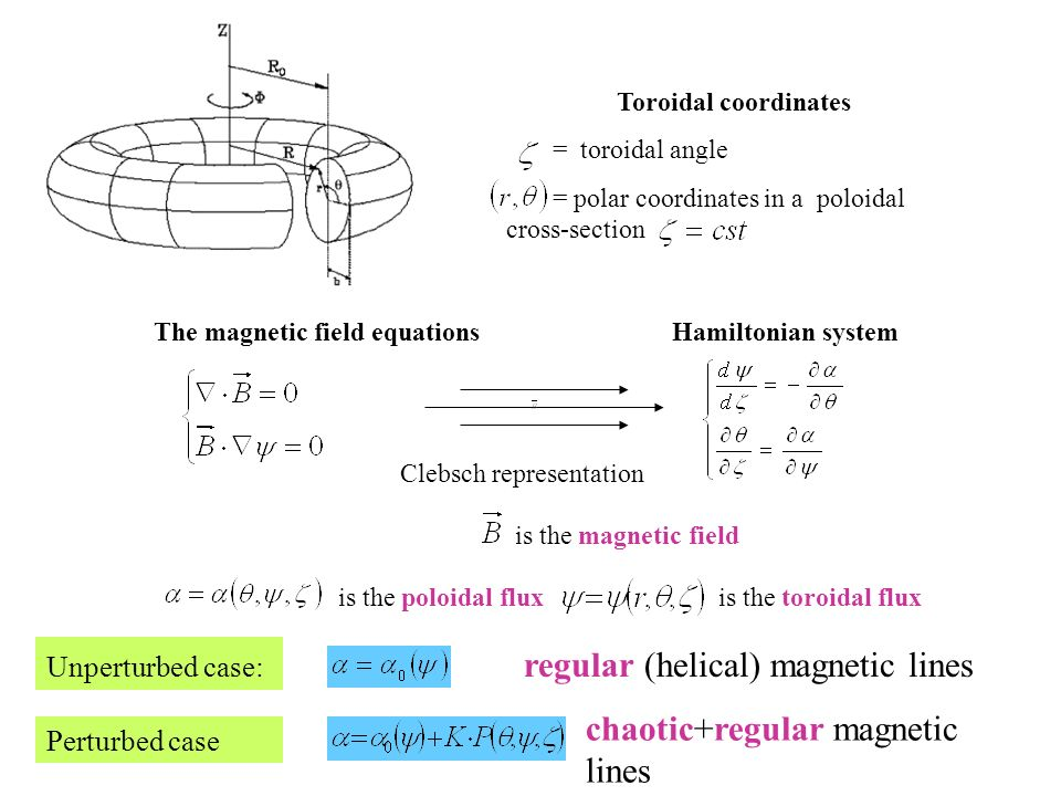 The magnetic field equations Hamiltonian system