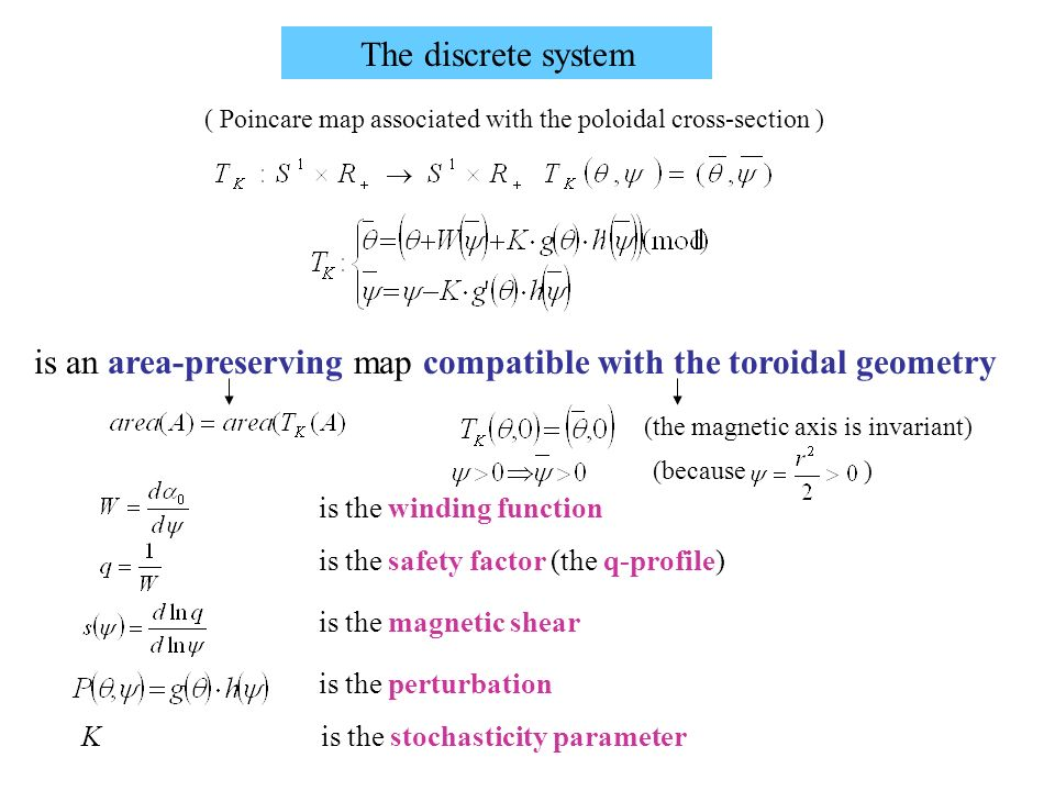 is an area-preserving map compatible with the toroidal geometry