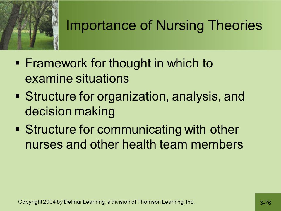 importance of research in nursing practice and theories Nursing theories - an overview http it should provide the foundations of nursing practice theory is important because it helps us to decide what we know and.