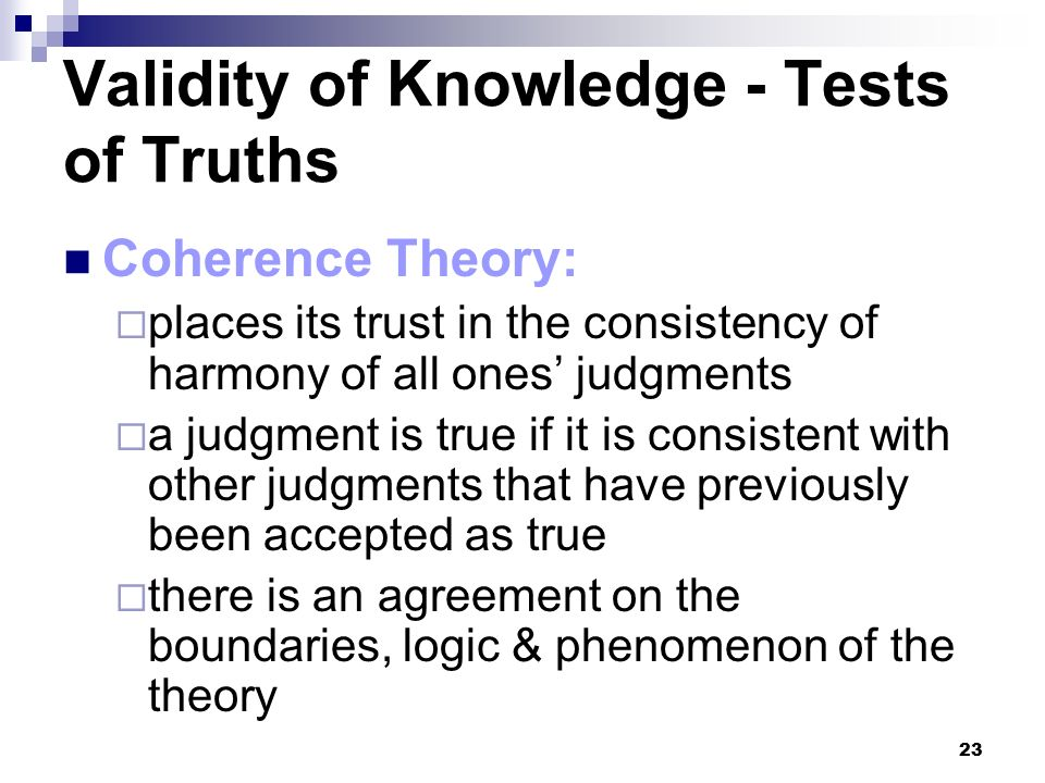 the validity of knowledge Than the examinee's lack of the knowledge and skills the test is intended to measure  how do you determine if a test has validity, reliability, fairness, and .