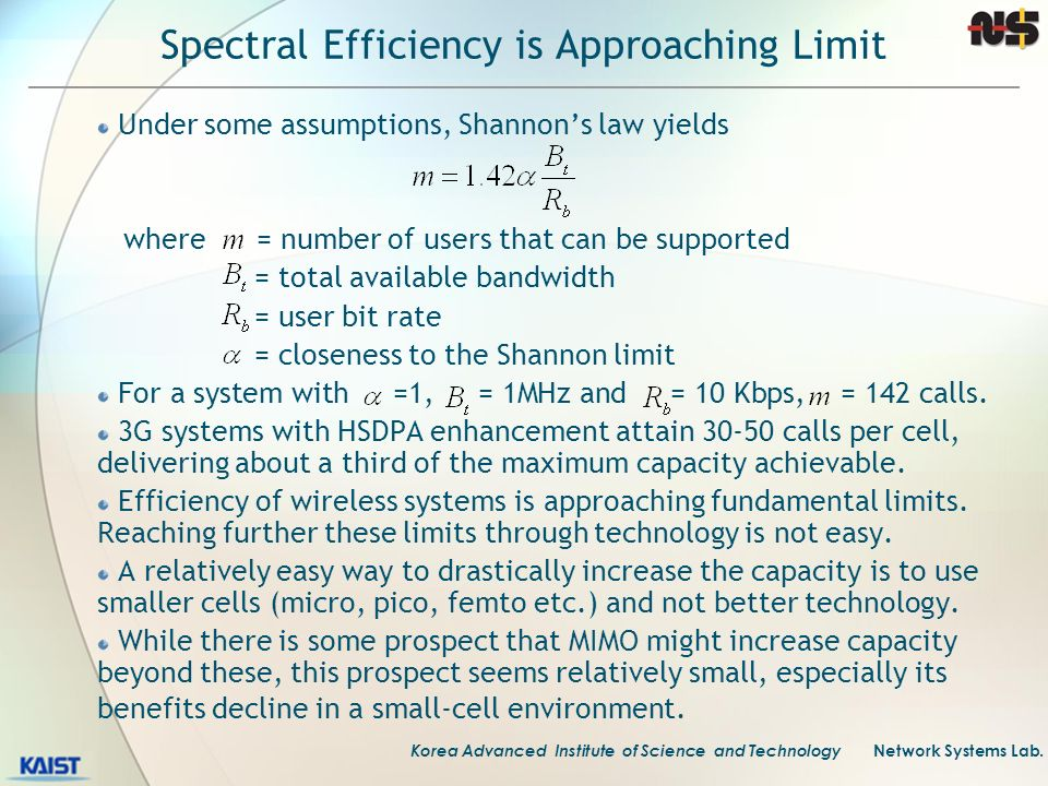 Spectral Efficiency is Approaching Limit