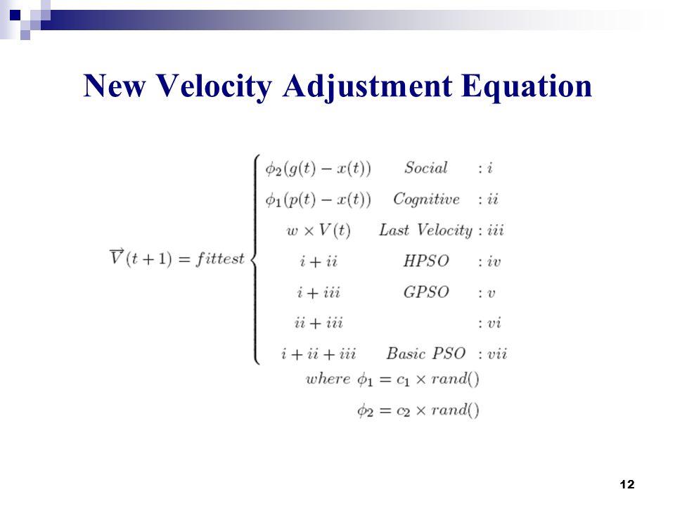 New Velocity Adjustment Equation