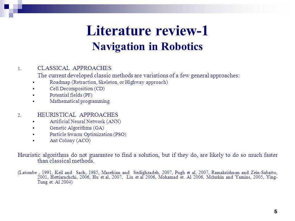 Literature review-1 Navigation in Robotics