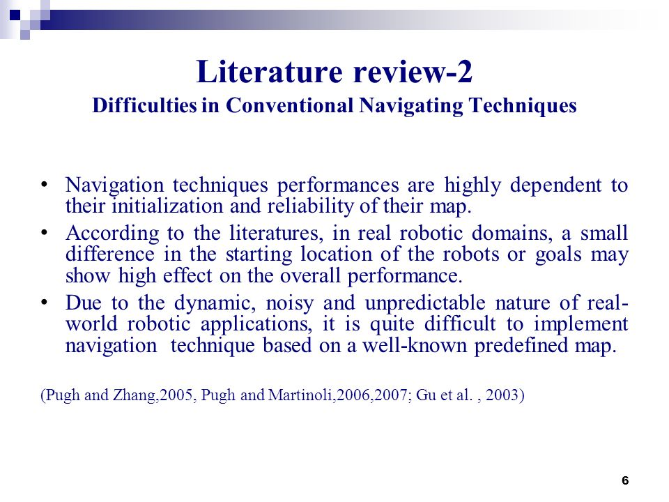 Literature review-2 Difficulties in Conventional Navigating Techniques
