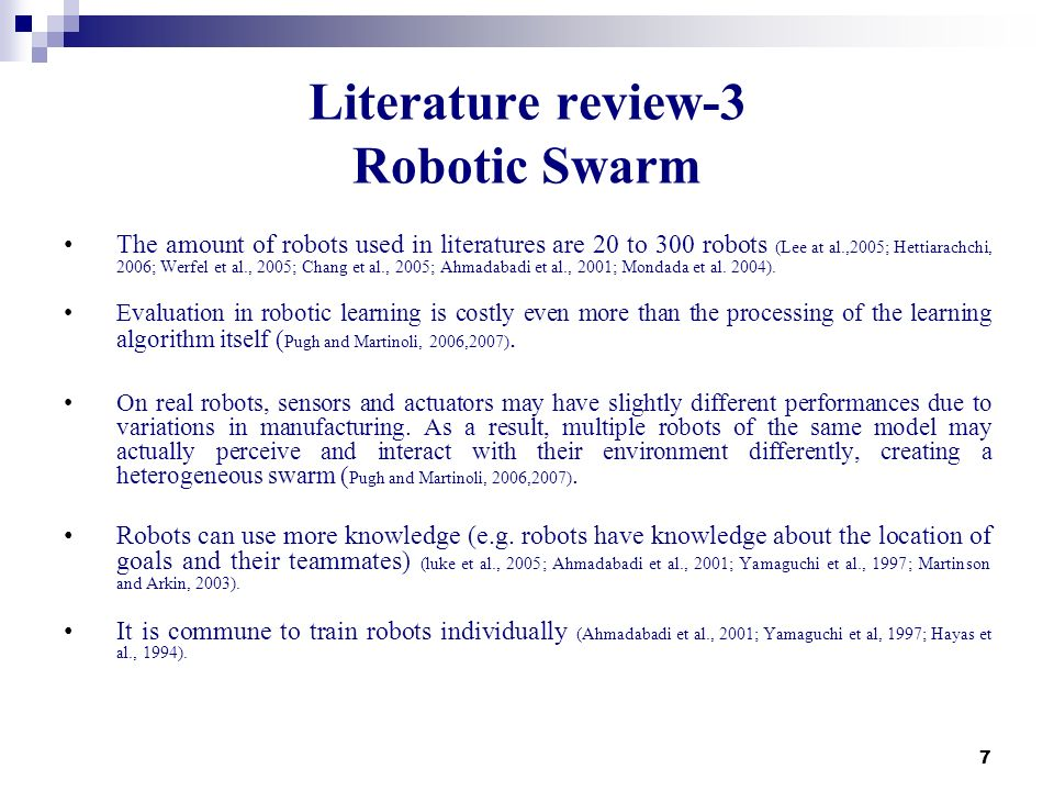 Literature review-3 Robotic Swarm