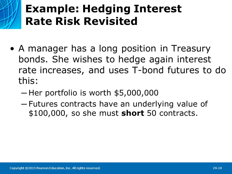 Example: Hedging Interest Rate Risk