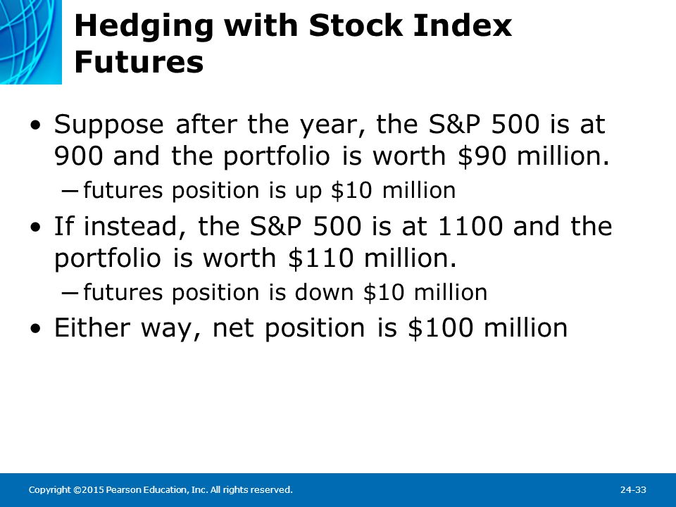 Hedging with Stock Index Futures