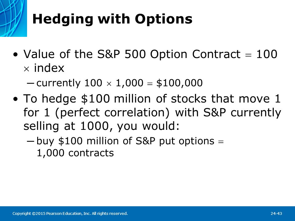 Hedging with Options