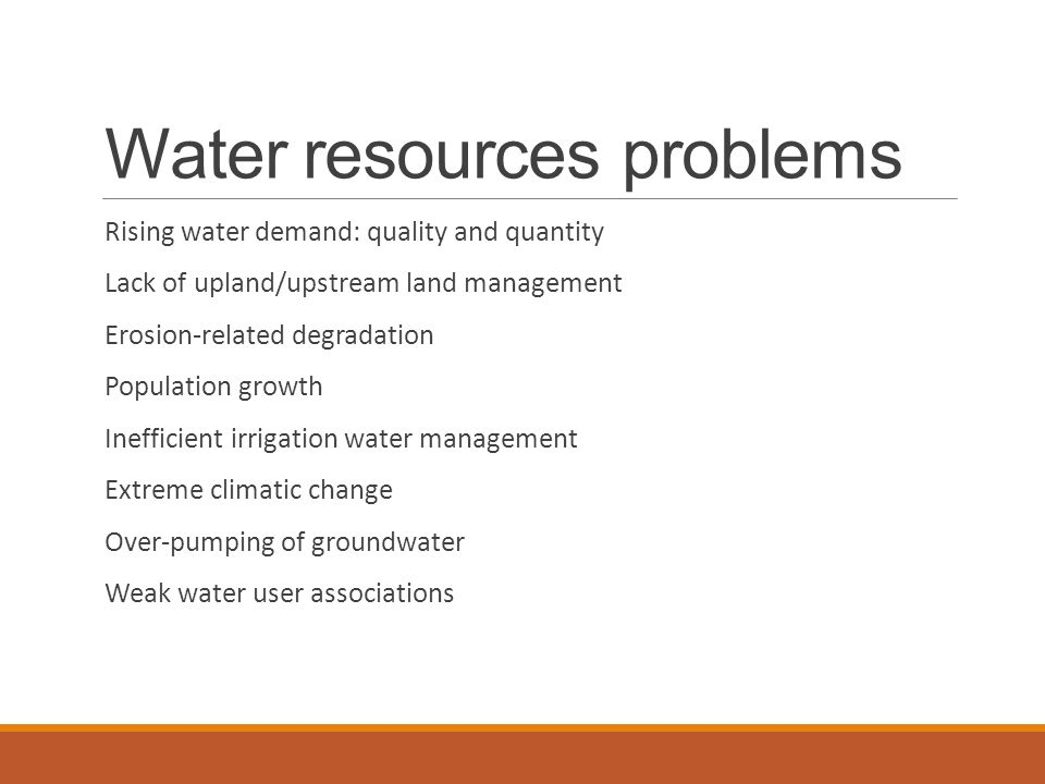 the water resource problem Water resources research publishes original research articles and commentaries on hydrology, water resources, and the social sciences of water and that provide a broad understanding of the role of water in earth's system.