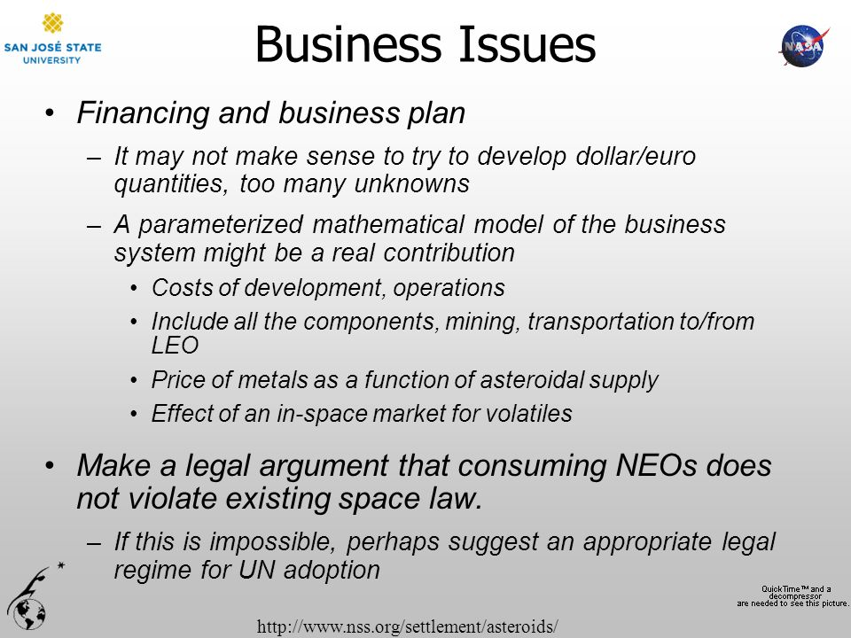 Business Issues Financing and business plan