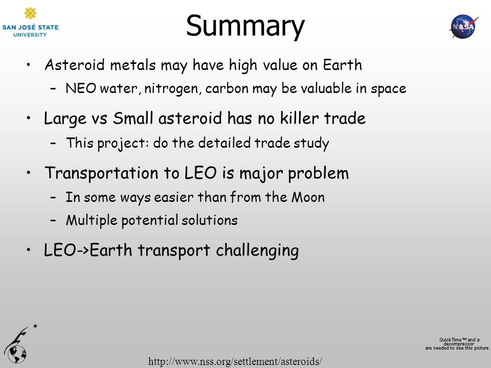 Summary Large vs Small asteroid has no killer trade