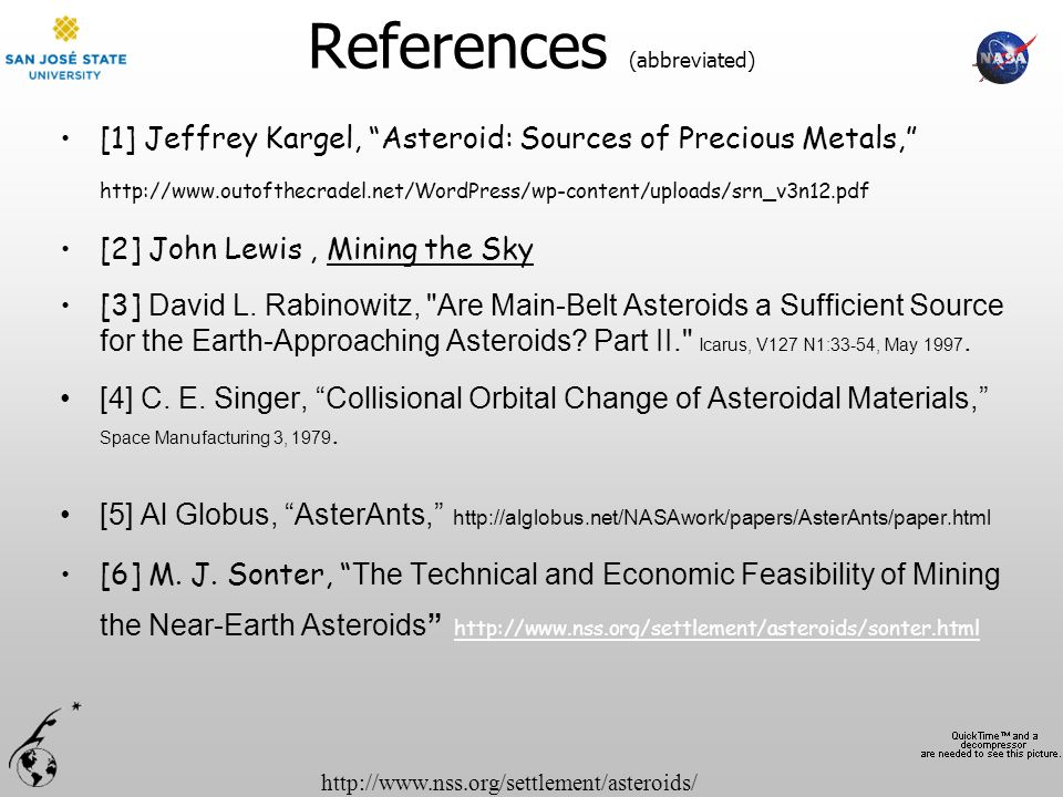 References (abbreviated)