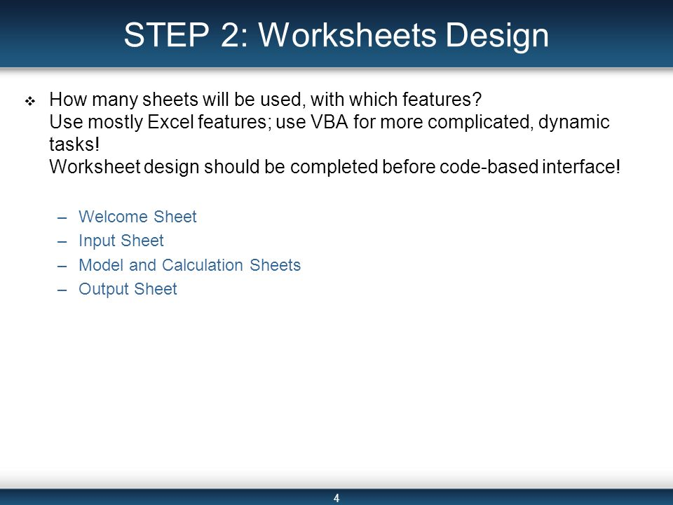 SpreadsheetBased Decision Support Systems Chapter 22 ppt video – Step 2 Worksheet