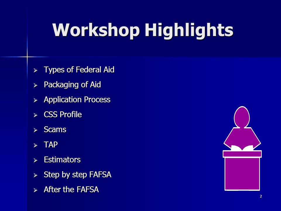 Financial Aid Workshop - ppt download