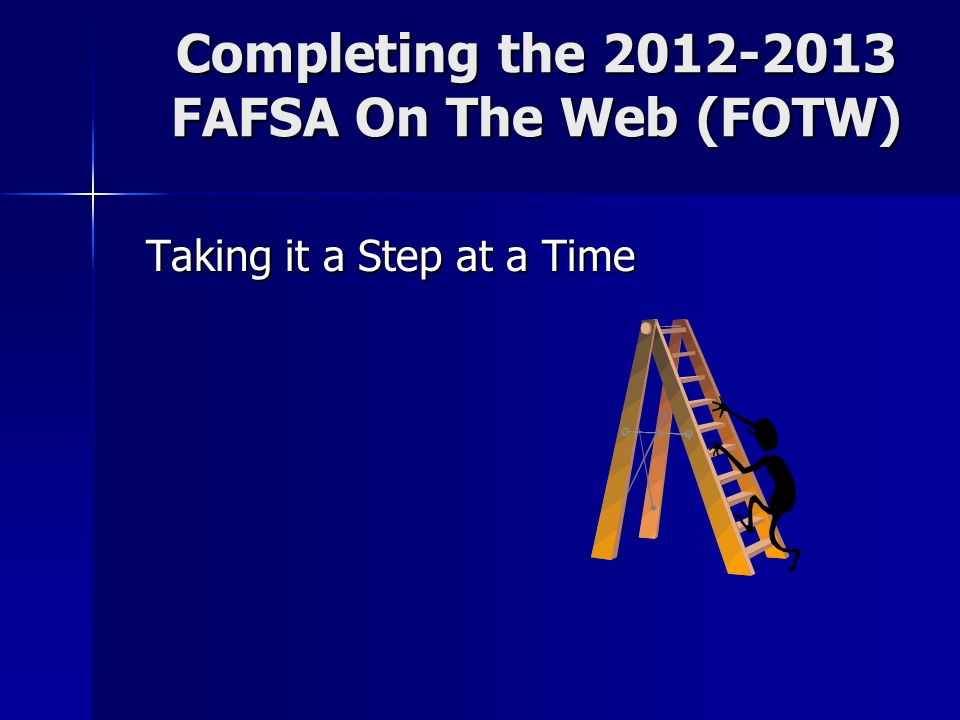 Worksheets Fafsa On The Web Worksheet financial aid workshop ppt download completing the 2012 2013 fafsa on web fotw