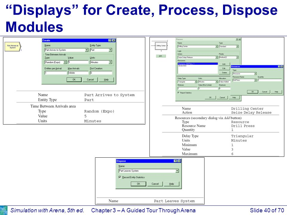 simulation with arena chapter 3 slides Chapter 3 simulation software based on the slides provided with the textbook  • packages discussed in this chapter –arena  35 general-purpose simulation .