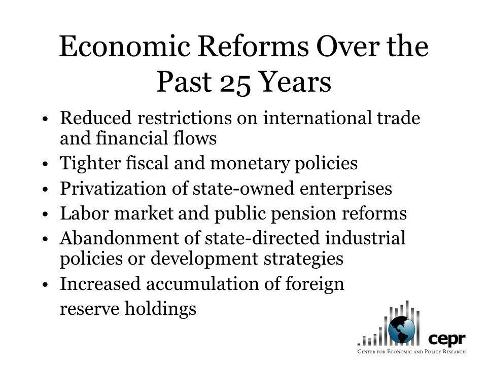 Economic Reforms Over the Past 25 Years