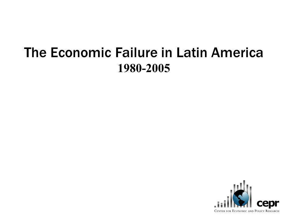 The Economic Failure in Latin America