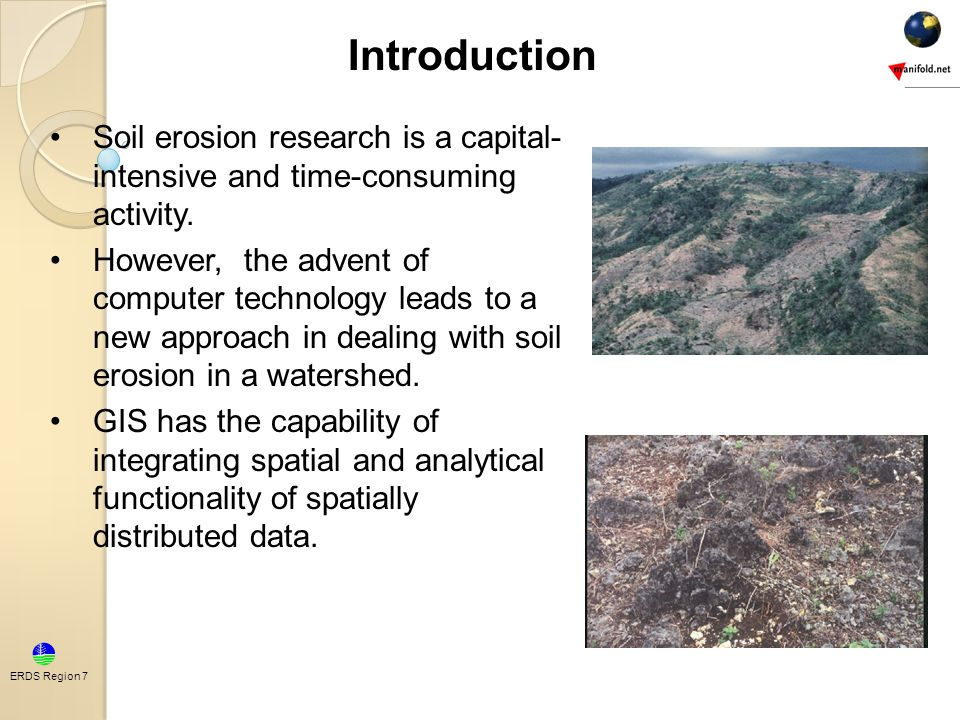Introduction soil erosion research is a capital intensive for Introduction of soil