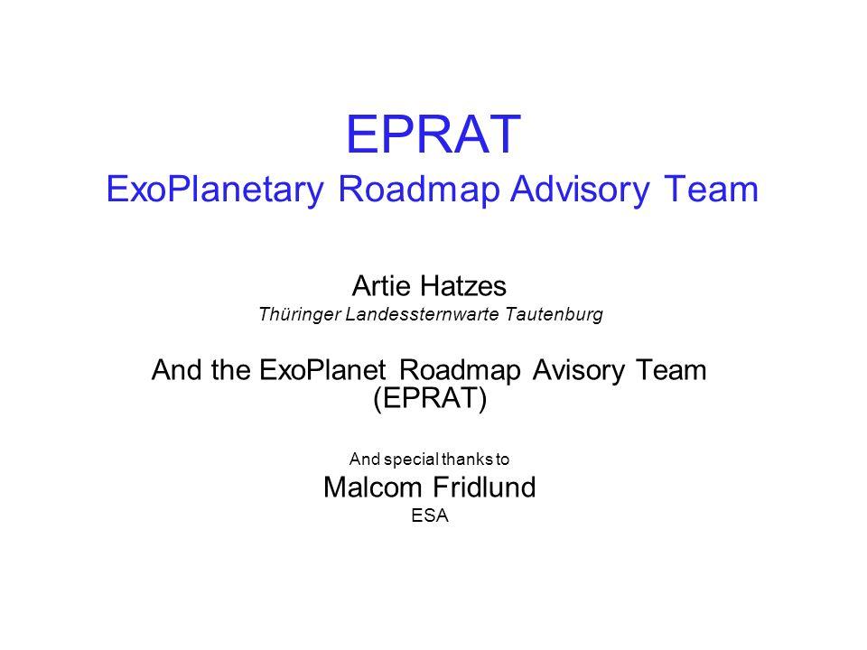 EPRAT ExoPlanetary Roadmap Advisory Team