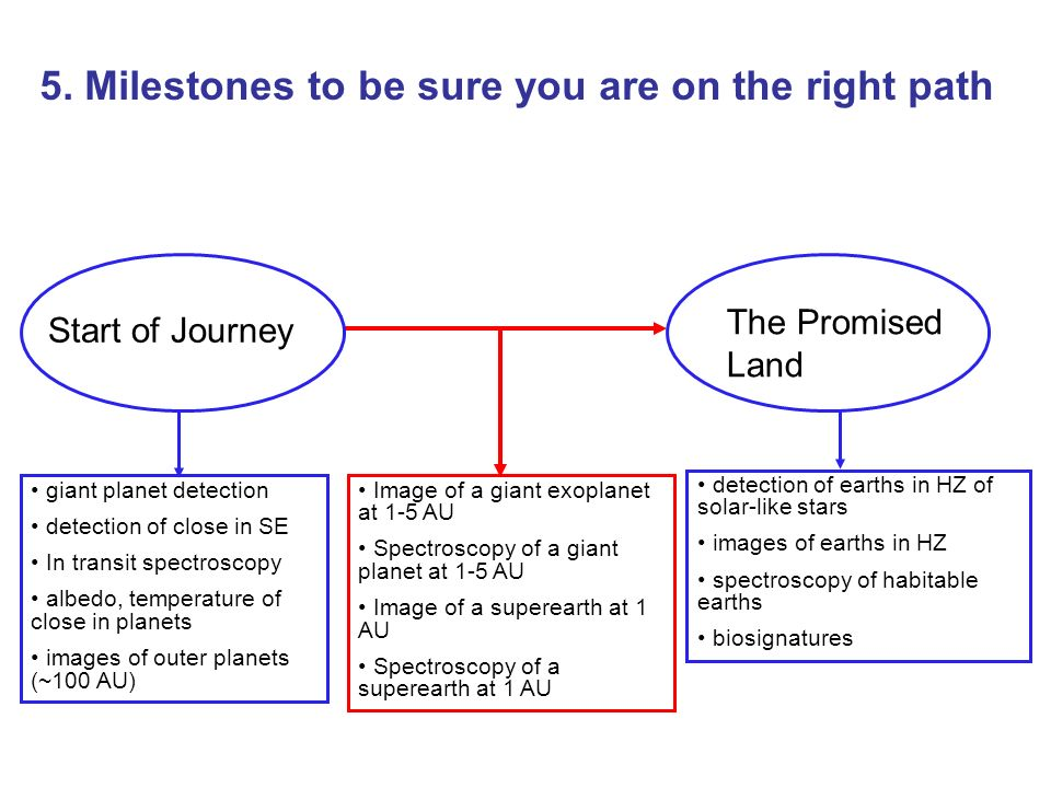 5. Milestones to be sure you are on the right path