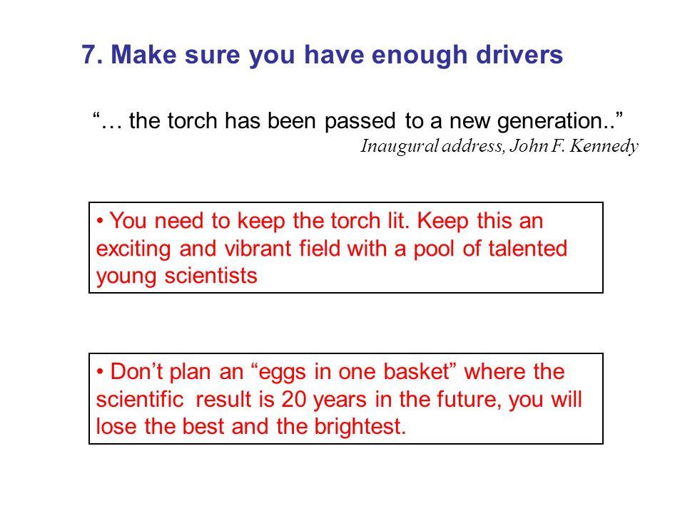 7. Make sure you have enough drivers