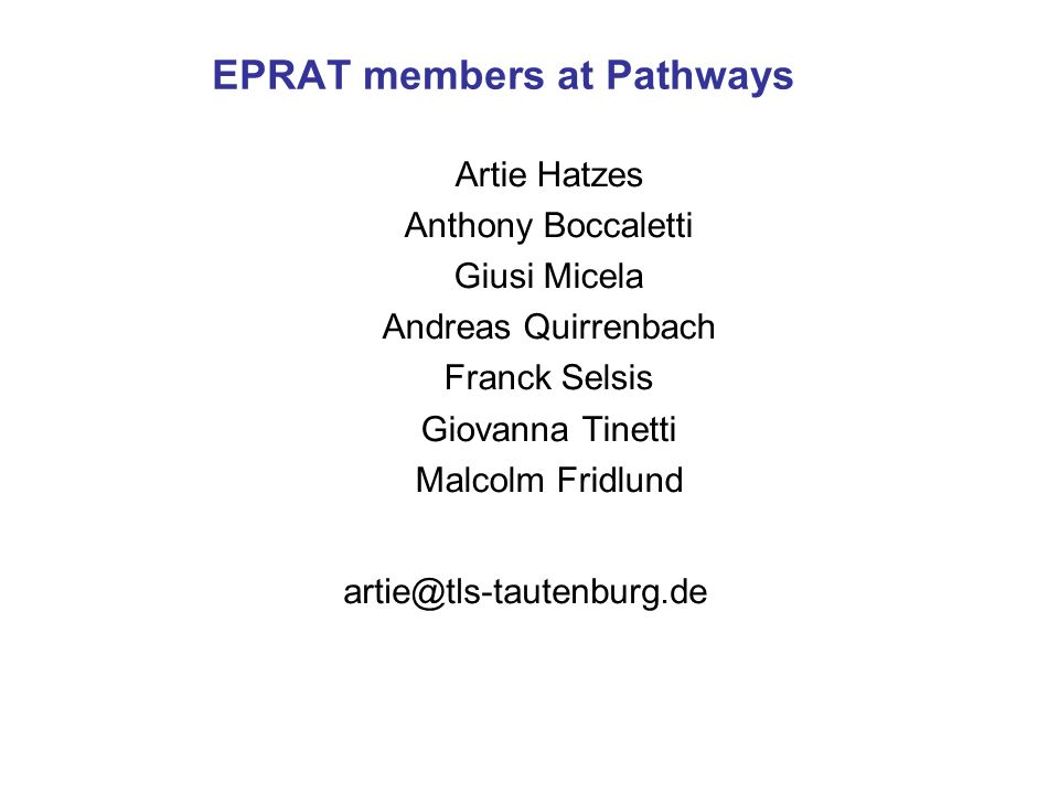 EPRAT members at Pathways