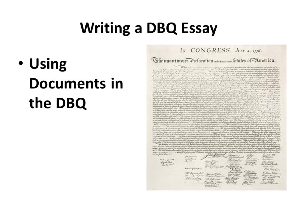 write good dbq thesis A three-activity lesson teaching students what thesis statements are and how to use them effectively in writing document based questions (dbqs) and other history essays rationale this list is typical of checklists on this topic, with much good advice, but without the practice activity that will help students apply the advice.