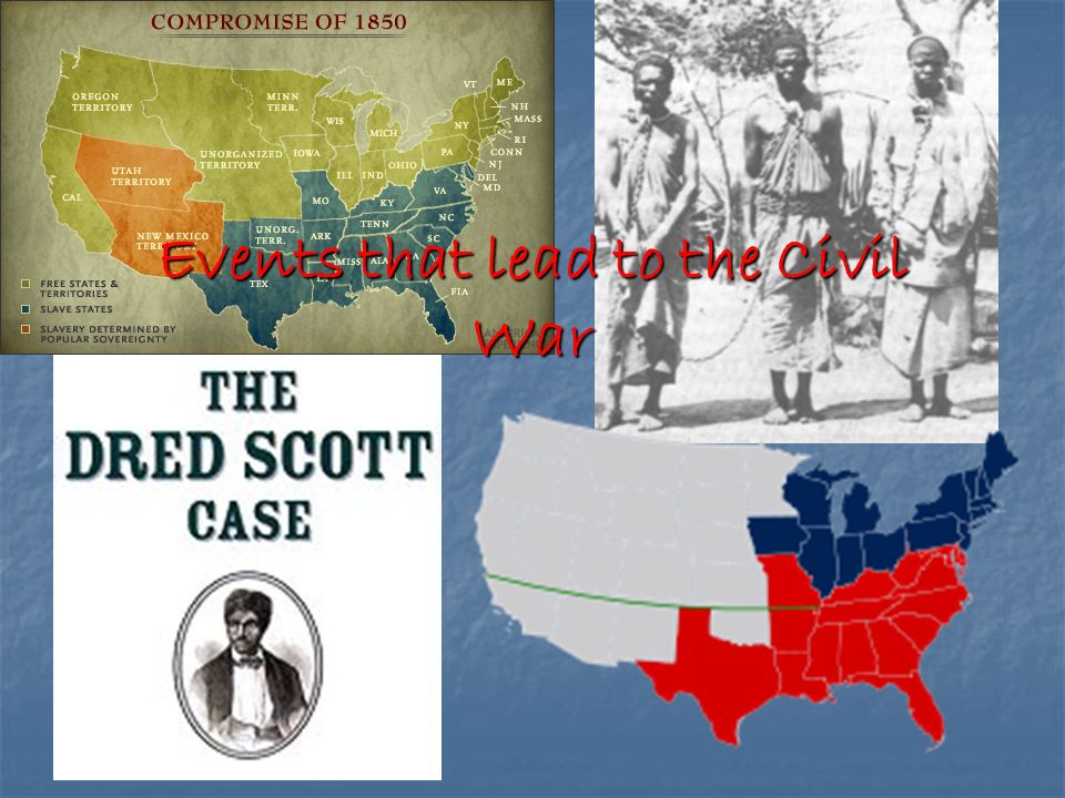 the events that lead to the civil war