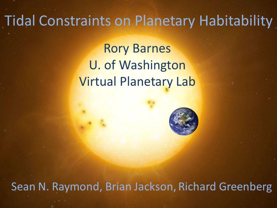 Tidal Constraints on Planetary Habitability