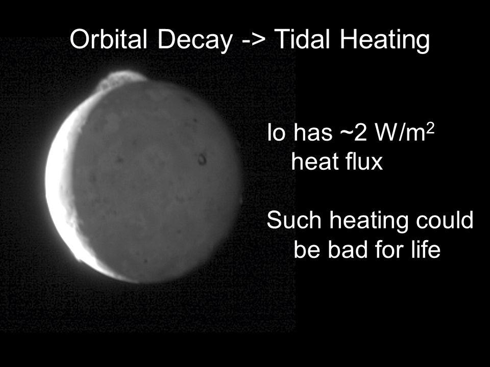 Orbital Decay -> Tidal Heating