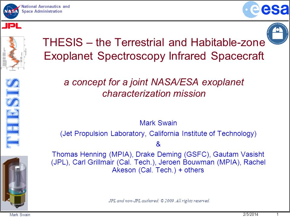 THESIS – the Terrestrial and Habitable-zone Exoplanet Spectroscopy Infrared Spacecraft a concept for a joint NASA/ESA exoplanet characterization mission