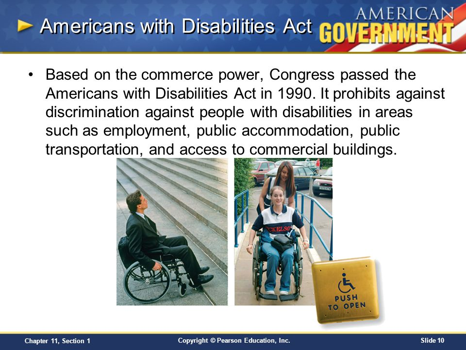 The Americans With Disabilities Act of 1990