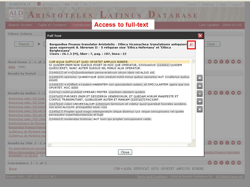 Access to full-text