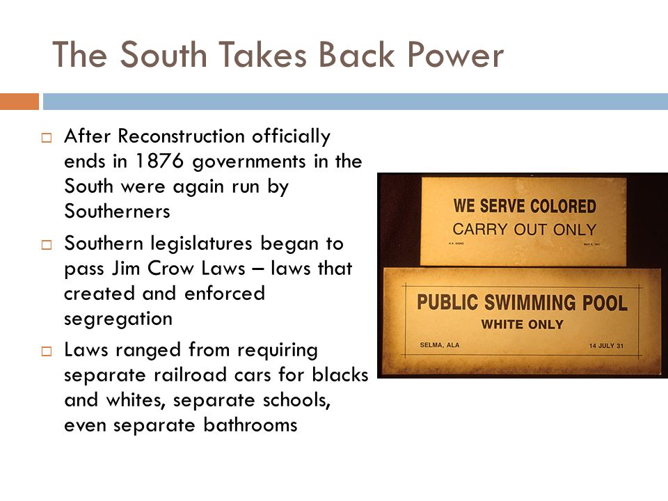 The South Takes Back Power