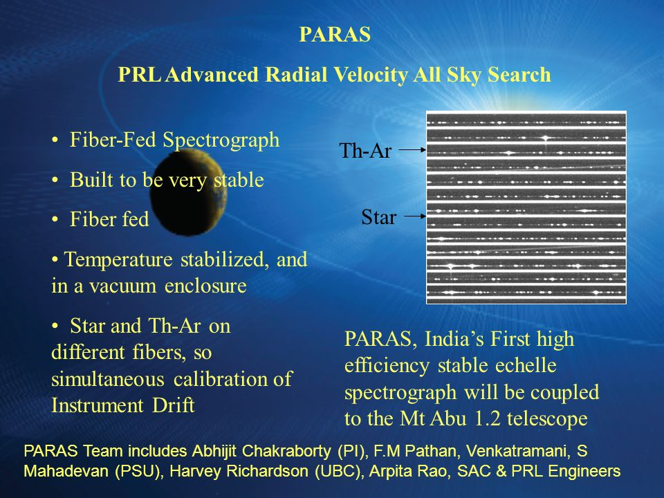 PRL Advanced Radial Velocity All Sky Search