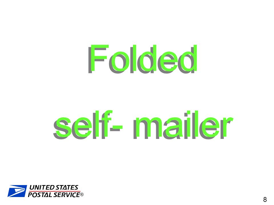 Folded Self Mailer The Rules For Folded Self Mailers Have