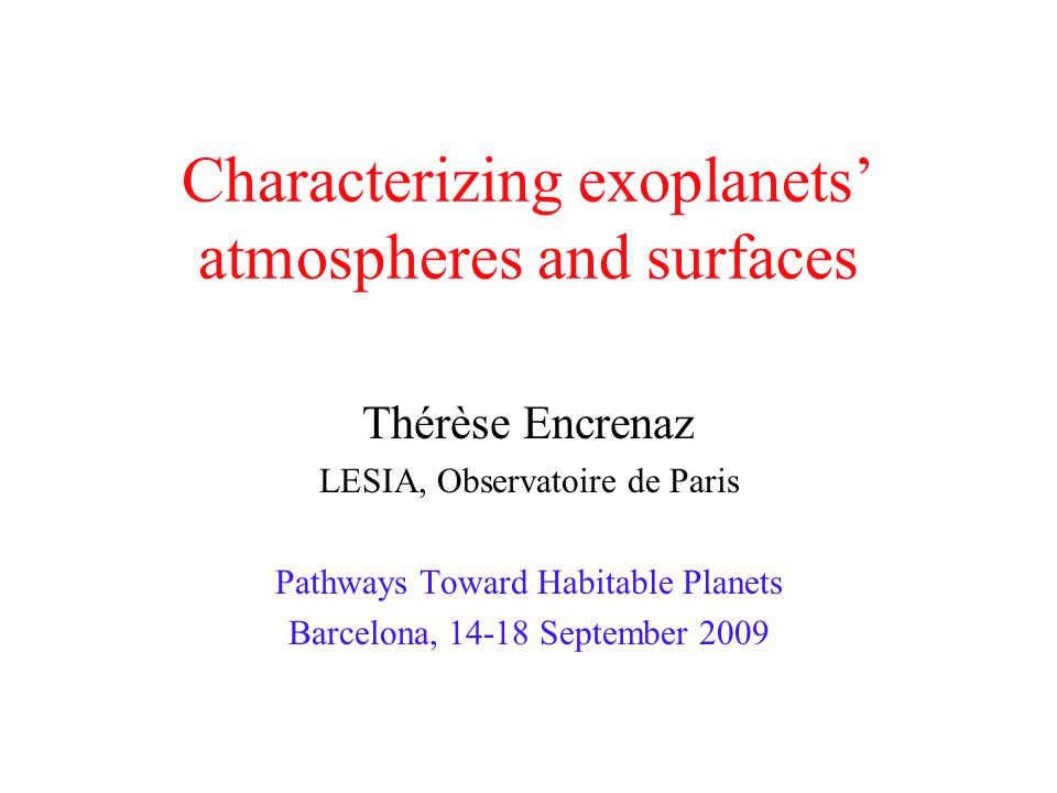Characterizing exoplanets' atmospheres and surfaces