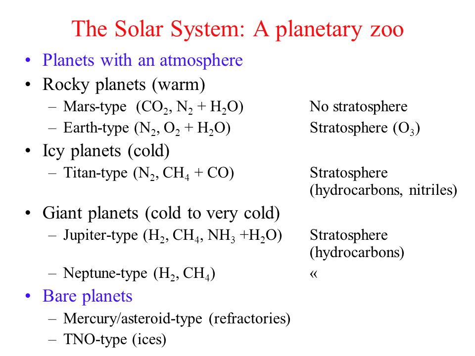 The Solar System: A planetary zoo