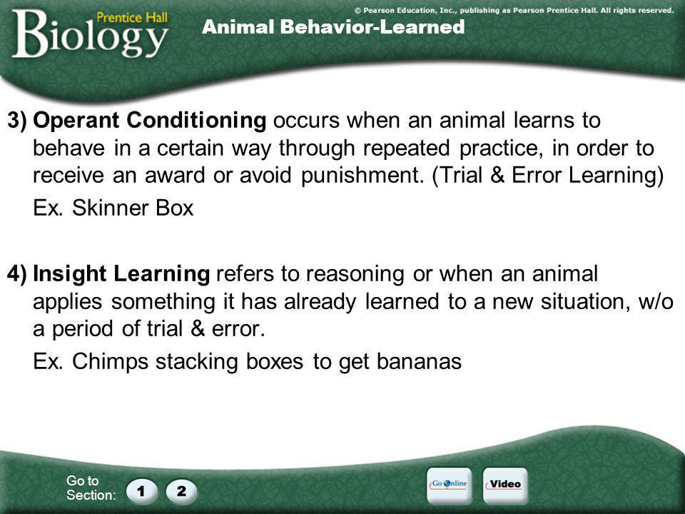 Animal Behavior-Learned