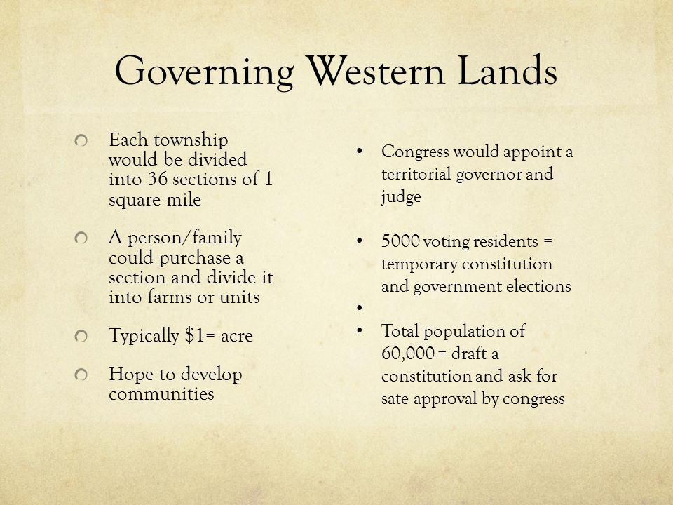 Governing Western Lands