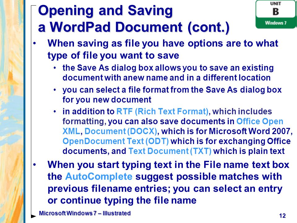 Microsoft windows 7 illustrated ppt download - Office open xml format or open document format ...