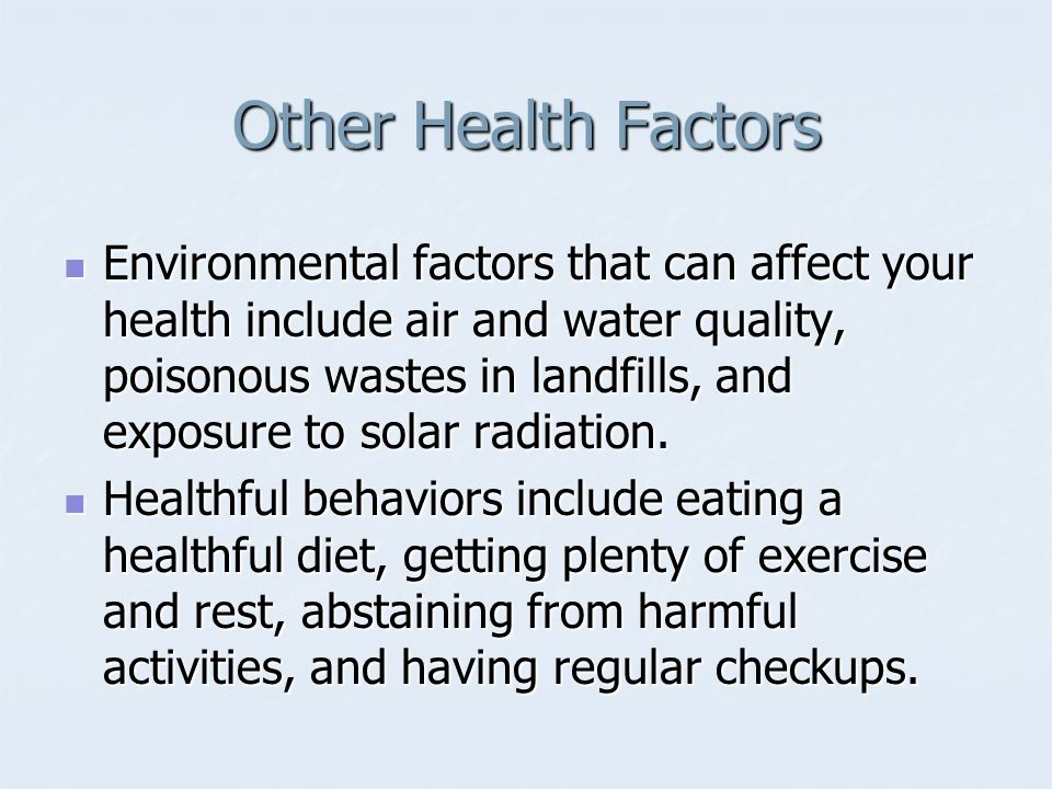 Other Health Factors