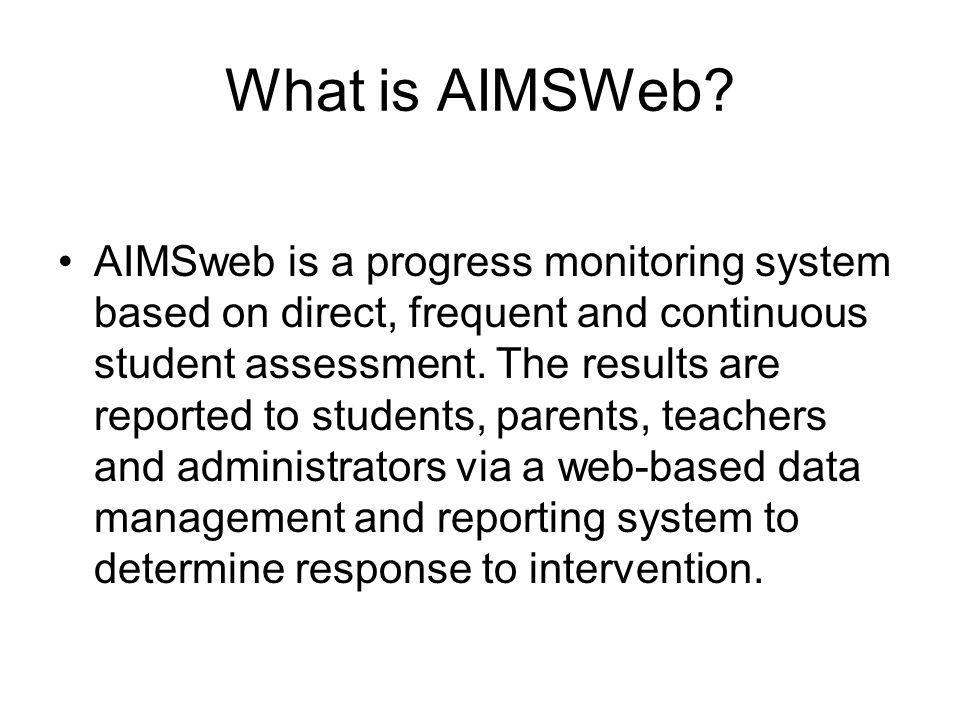 What is AIMSWeb